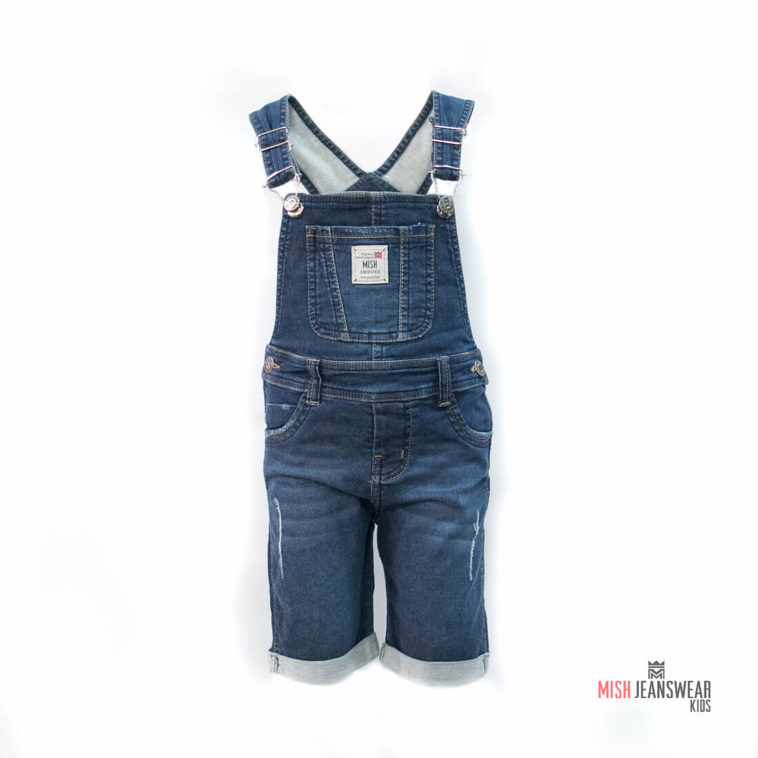 b11f9ceef Jardineira jeans infantil com elastano Mish masculina
