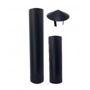 Chamine preta completa de 130mm e 230mm