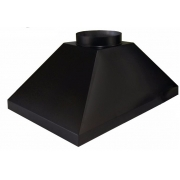 Coifa preta de 80 x 60 com saída de 150mm