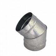 Curva galvanizada 45° de 230 mm de diâmetro