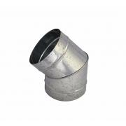 Curvas 45° galvanizada de 30 cm de diâmetro