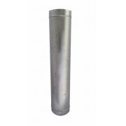 Duto galvanizado para chaminé de 100 mm de diâmetro com 1 metro de altura