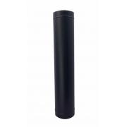 Duto preto para chaminé de 130 mm de diâmetro com 1,20 m de altura
