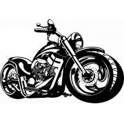 Quadro Decorativo Fabricado Em Aço Modelo Moto