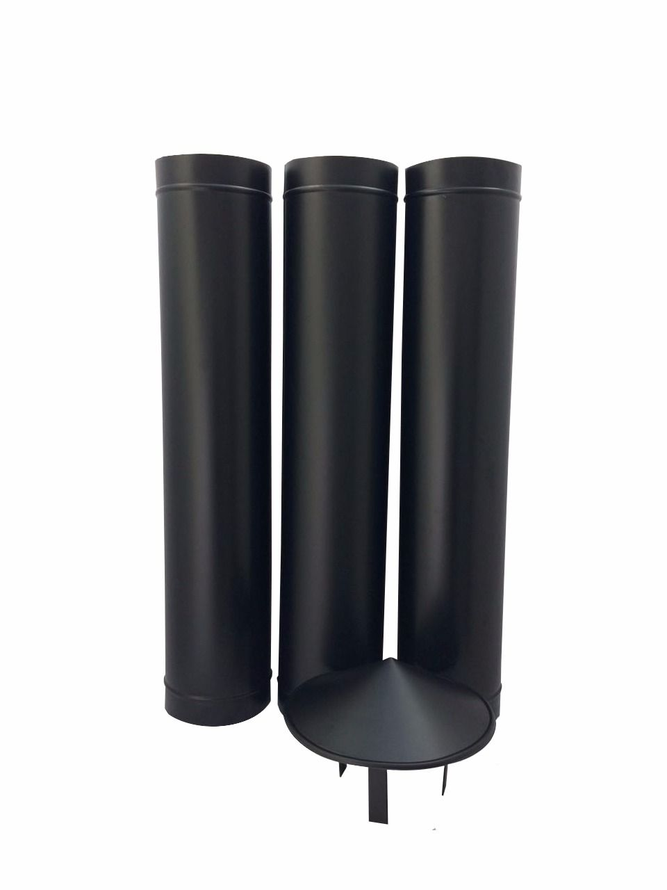 1,80 m de duto preto de 150 mm de diâmetro com chapéu chinês  - Galvocalhas