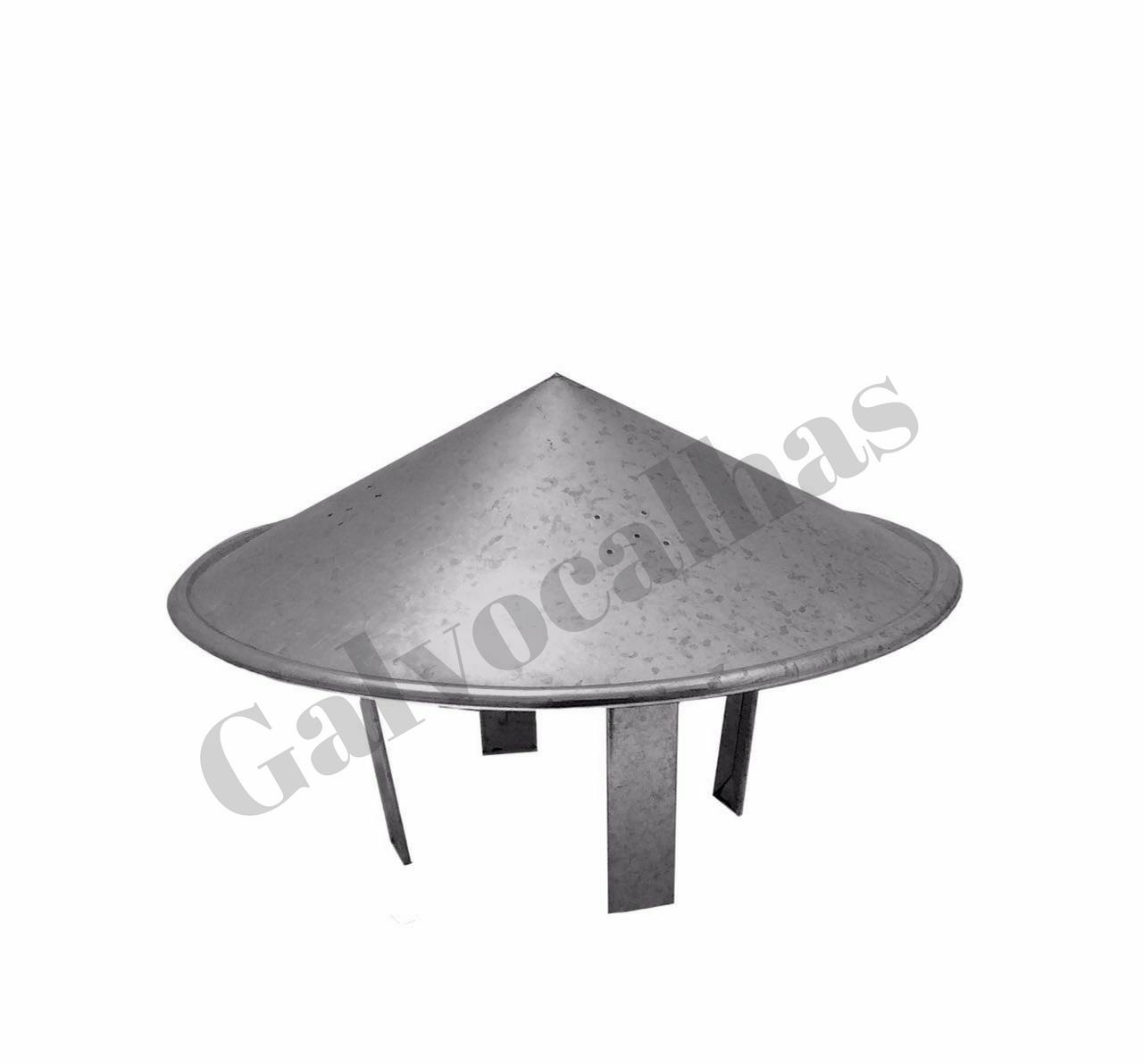 1 metro de duto galvanizado com chapéu para chaminé - Vários diâmetros - Consulte-nos!  - Galvocalhas