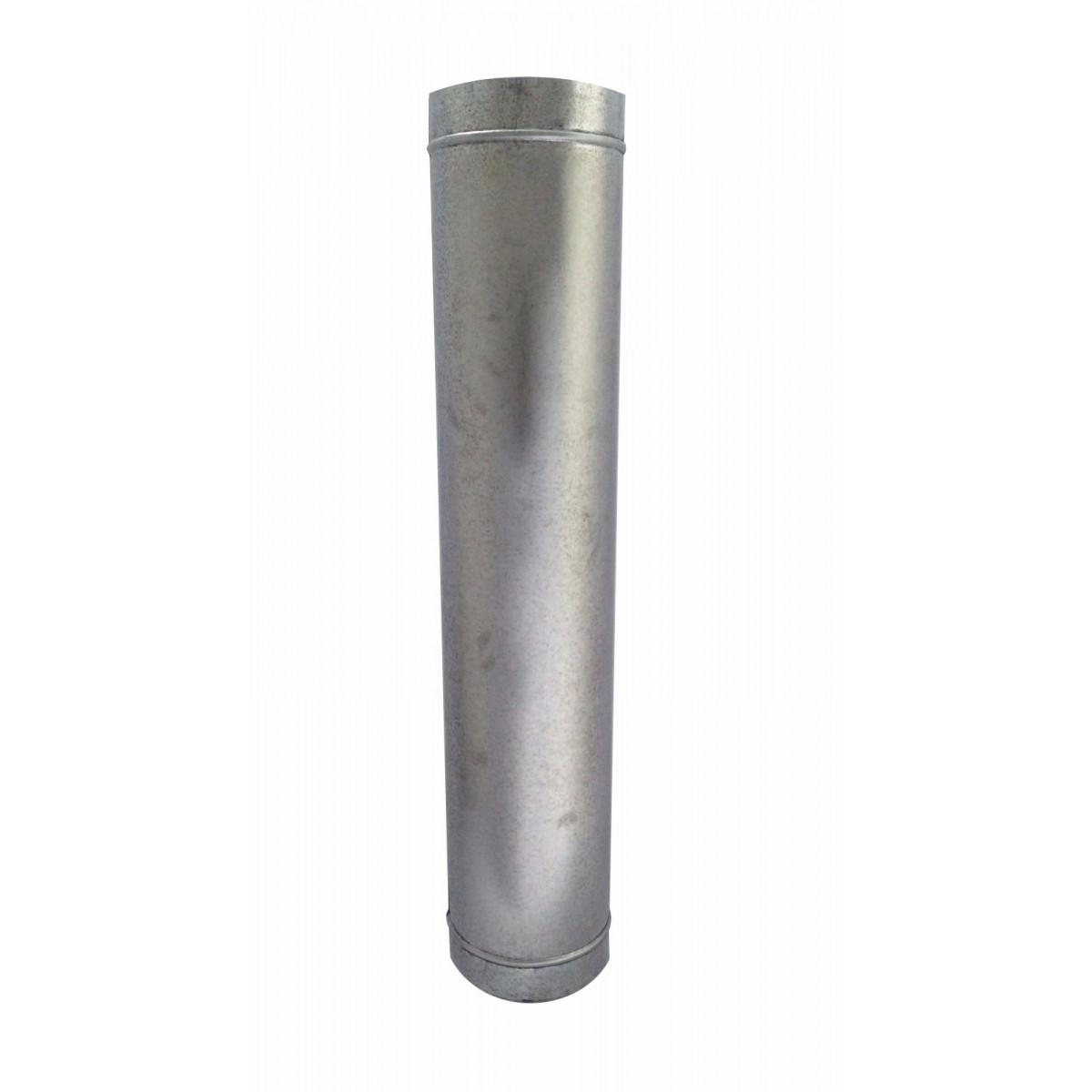 1 metro de duto galvanizado para chaminé de 40 mm de diâmetro  - Galvocalhas
