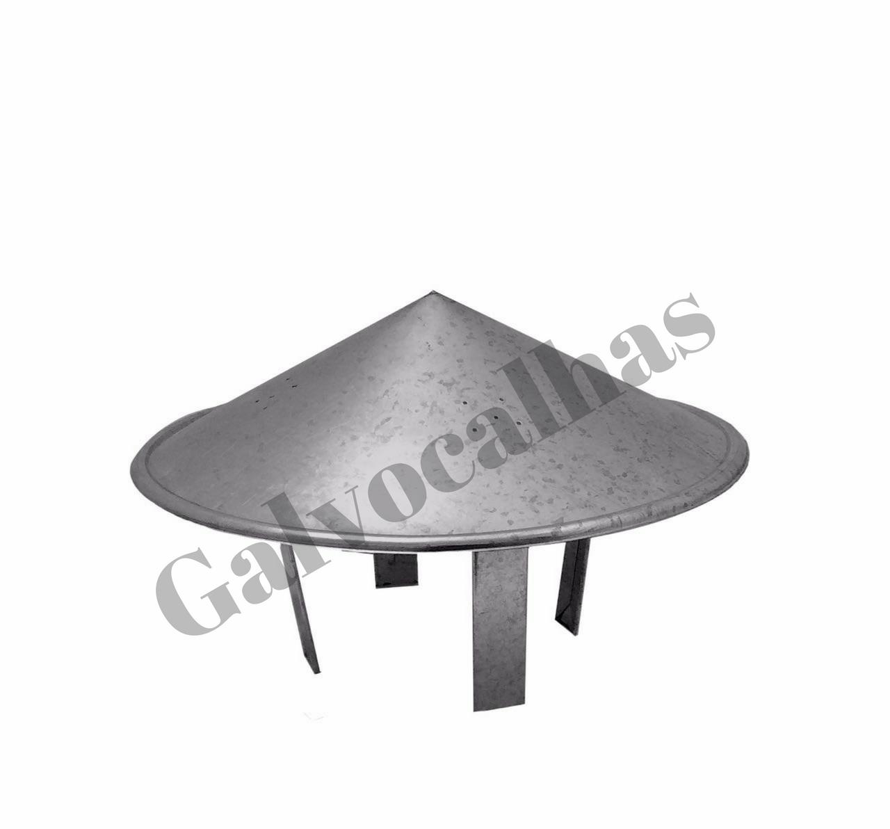 2 metros de duto galvanizado com chapéu para chaminé - Vários diâmetros - Consulte-nos!  - Galvocalhas