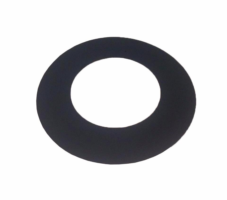 Anel de acabamento preto para laje ou parede para dutos de 115 mm de diâmetro  - Galvocalhas
