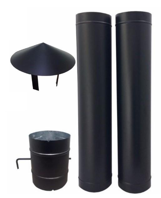 Chamine de 150 mm preta para forno  - Galvocalhas