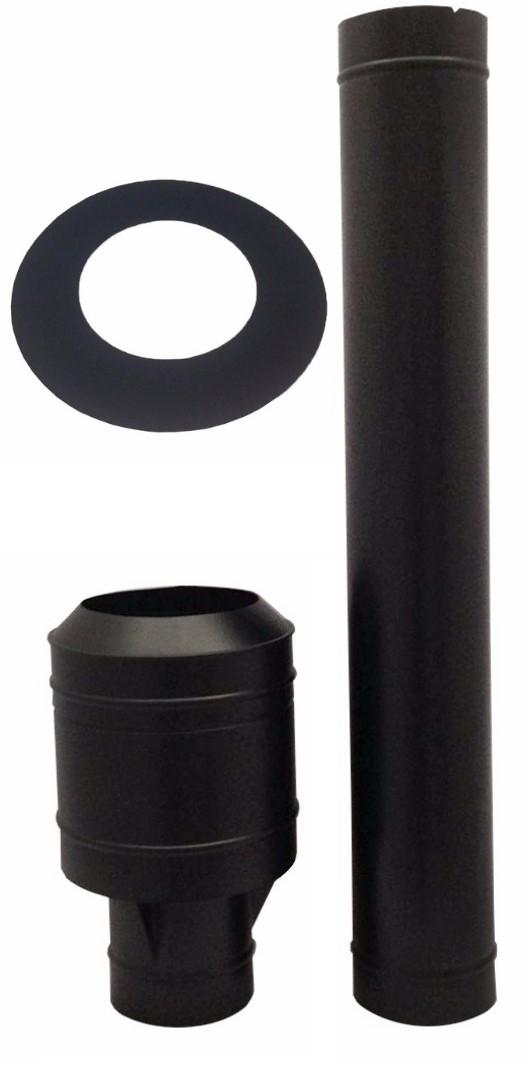 Chamine de 230 mm preta para churrasqueira  - Galvocalhas