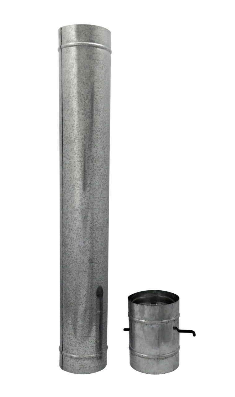 Chamine de churrasqueira galvanizada de 130 mm de diâmetro  - Galvocalhas