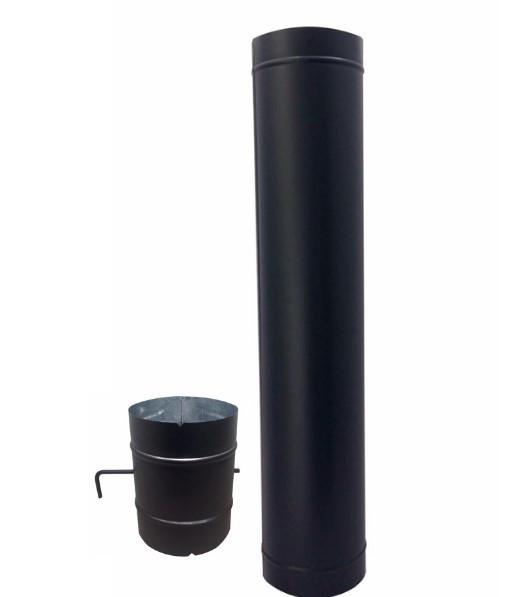 Chamine preta completa de 150mm para forno  - Galvocalhas