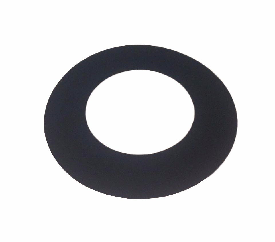 Chamine preta de 150mm com canhao e anel  - Galvocalhas