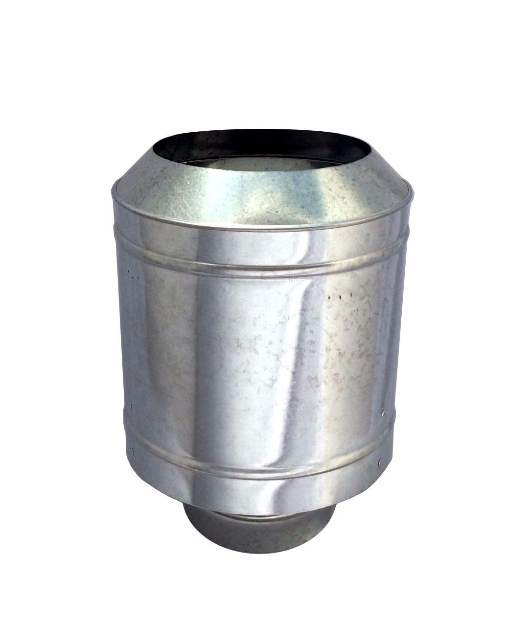 Chapéu galvanizado tipo canhão sputinik para chaminé de 130 mm de diâmetro  - Galvocalhas