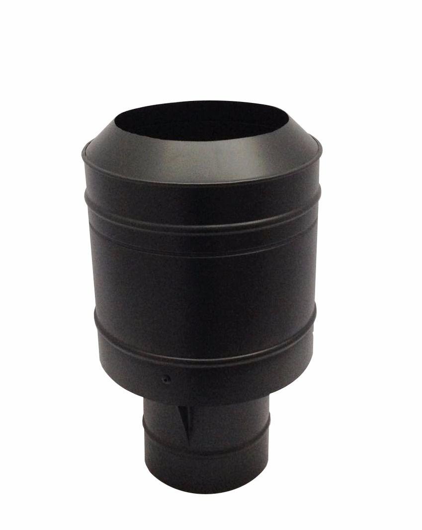 Chapéu preto tipo canhão sputinik para chaminé de 130 mm de diâmetro.  - Galvocalhas