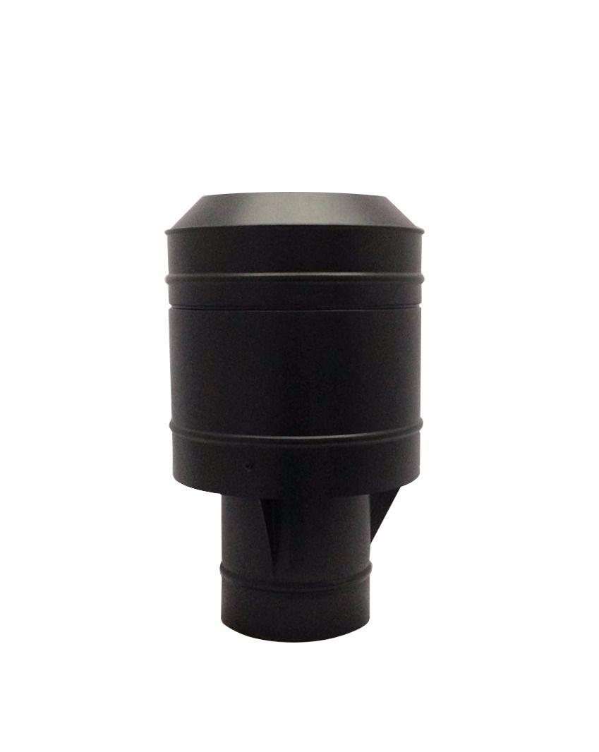 Chapéu preto tipo canhão sputinik para chaminé de 150 mm de diâmetro.  - Galvocalhas