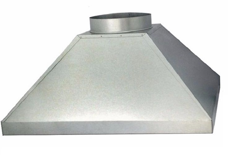 Coifa De Churrasqueira Em Aço Galvanizado 2,00 M. X 1,00 M.  - Galvocalhas