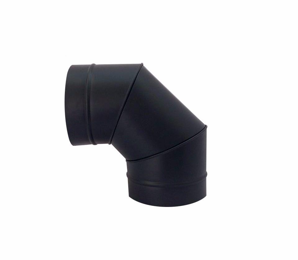 Coifa e chaminé de 200 mm preta para churrasqueira  - Galvocalhas