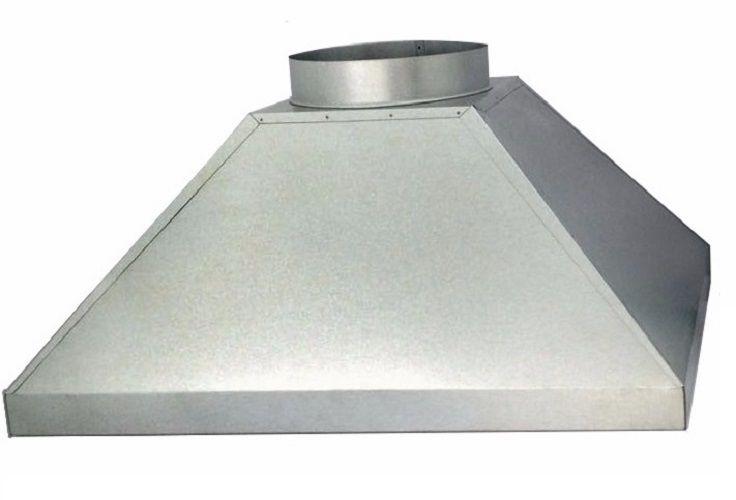 Coifa Para Churrasqueira Em Aço Galvanizado 1,50 M. X 80 Cm.  - Galvocalhas