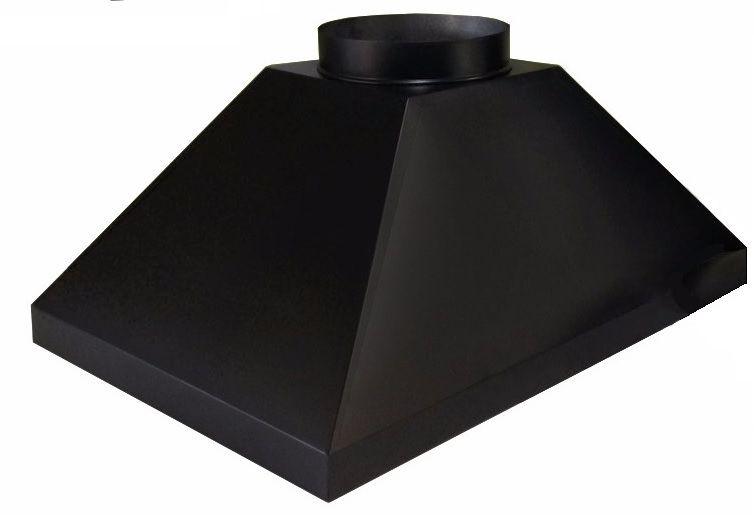 Coifa Para Churrasqueira Preta Com 100 X 60 X 40 Cm  - Galvocalhas