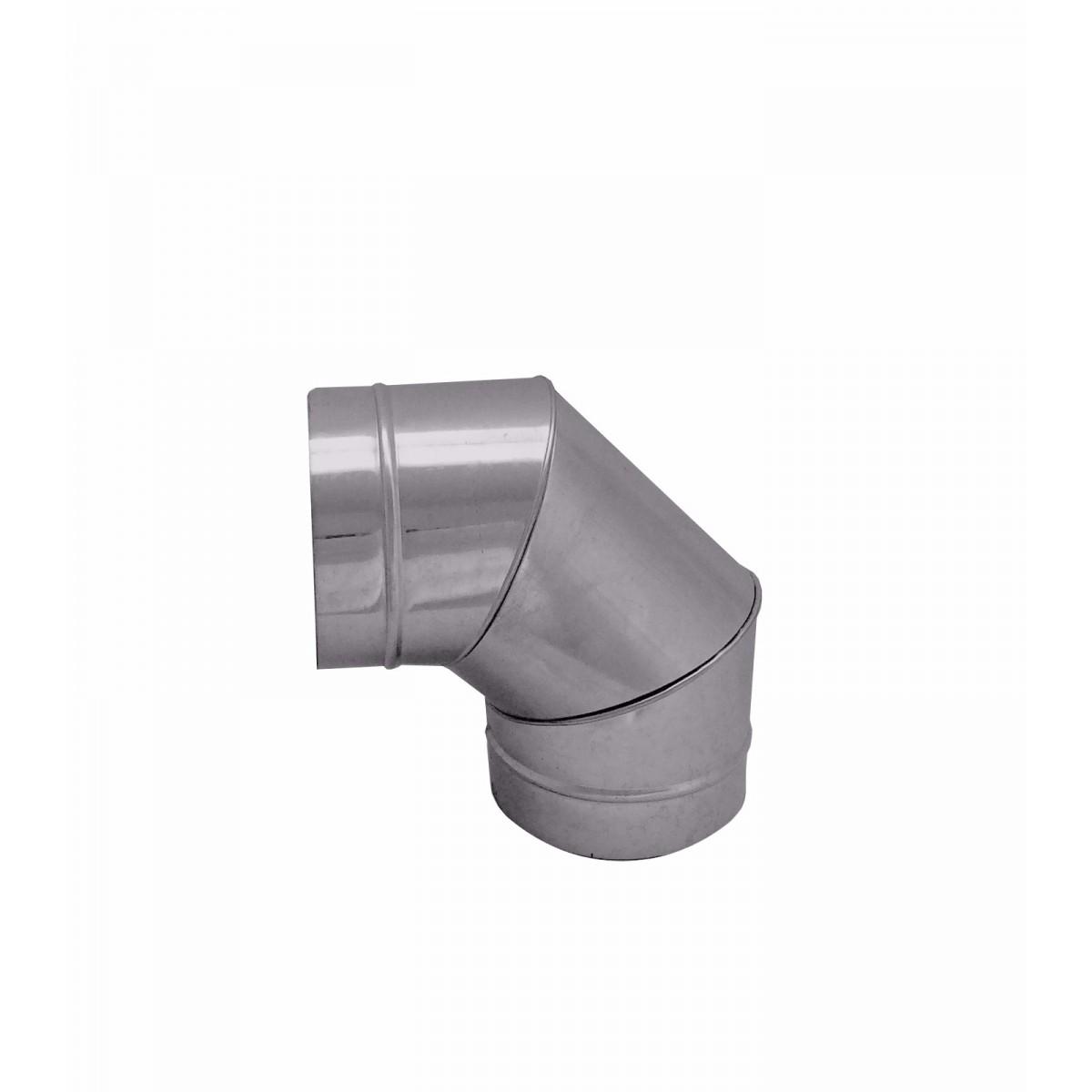 Curva / cotovelo galvanizada 90° de 130 mm de diâmetro  - Galvocalhas