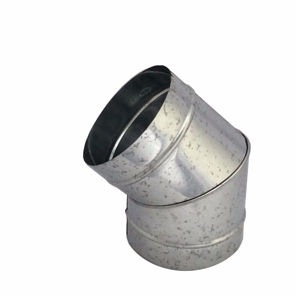 Curva galvanizada 45° de 130 mm de diâmetro  - Galvocalhas