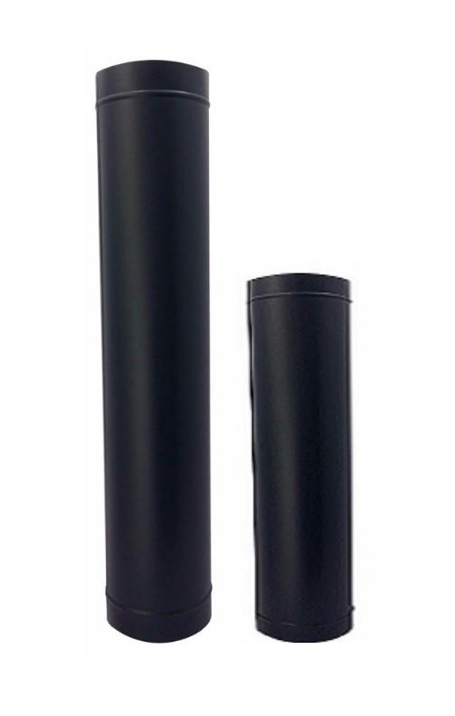 Duto e chapeu canhao de 200mm preto  - Galvocalhas