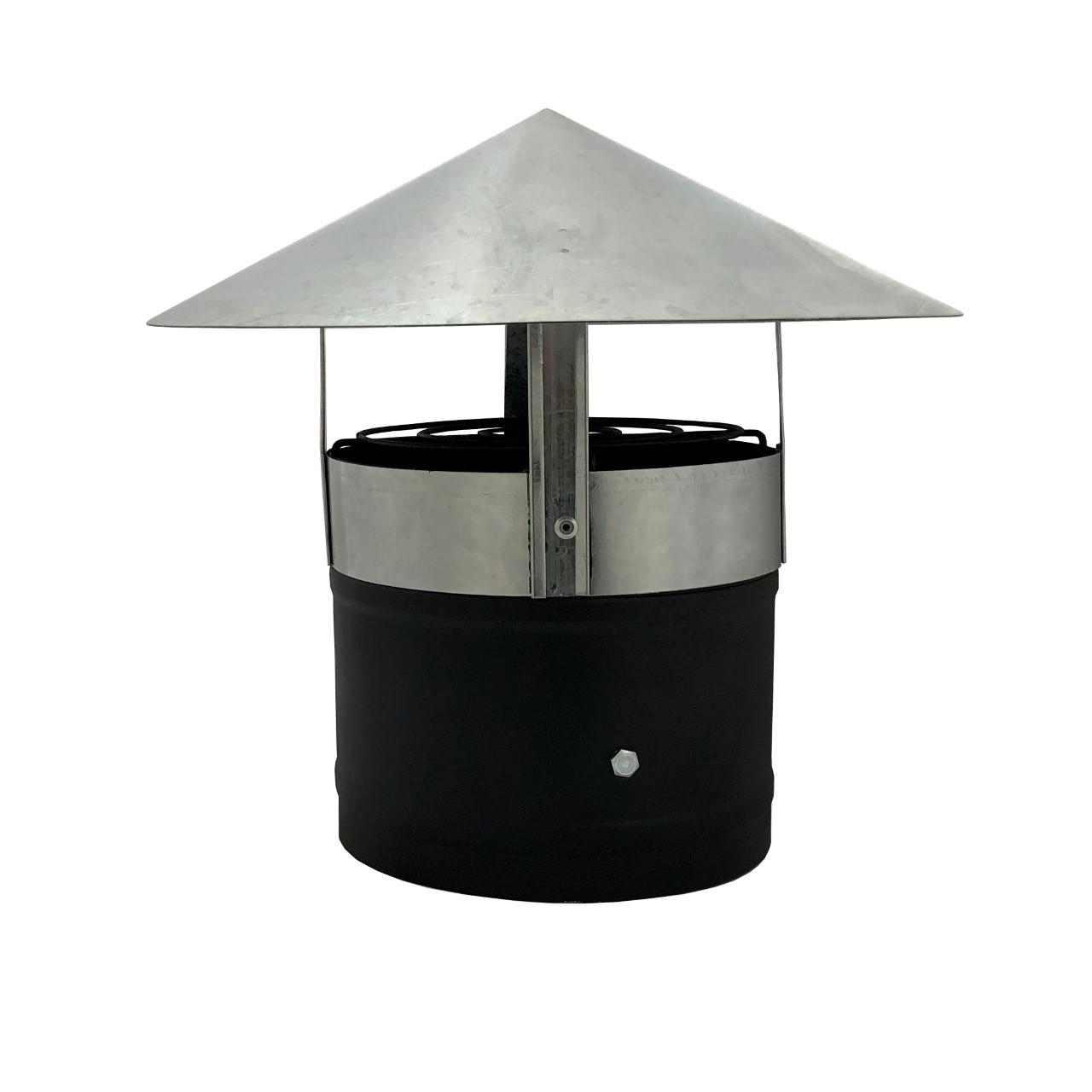 Exaustor com chapéu chinês e adaptador para churrasqueira pre moldada  - Galvocalhas