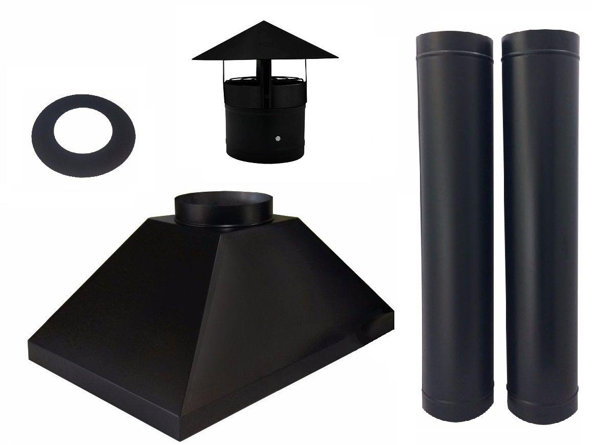 Kit Coifa Churrasqueira 75x60cm + Chaminé E Exaustor 2,40 M.  - Galvocalhas