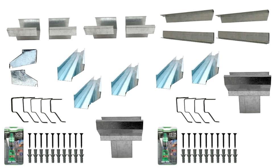 Kits de calhas de beiral para telhado  - Galvocalhas