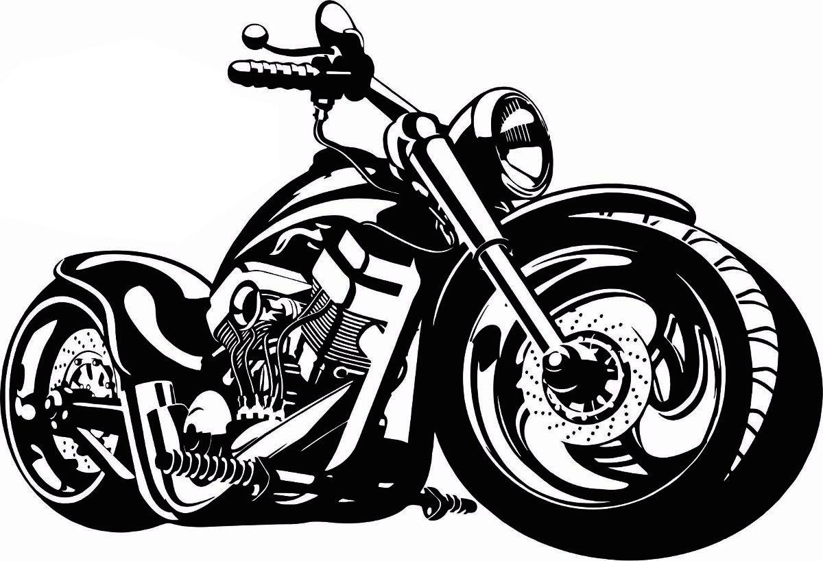 Quadro Decorativo Fabricado Em Aço Modelo Moto  - Galvocalhas