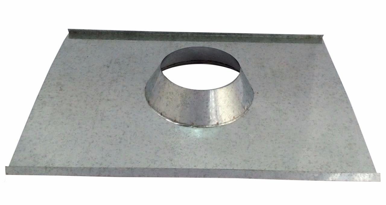 Rufo colarinho de telhado galvanizado para chaminé de 255 mm de diâmetro  - Galvocalhas