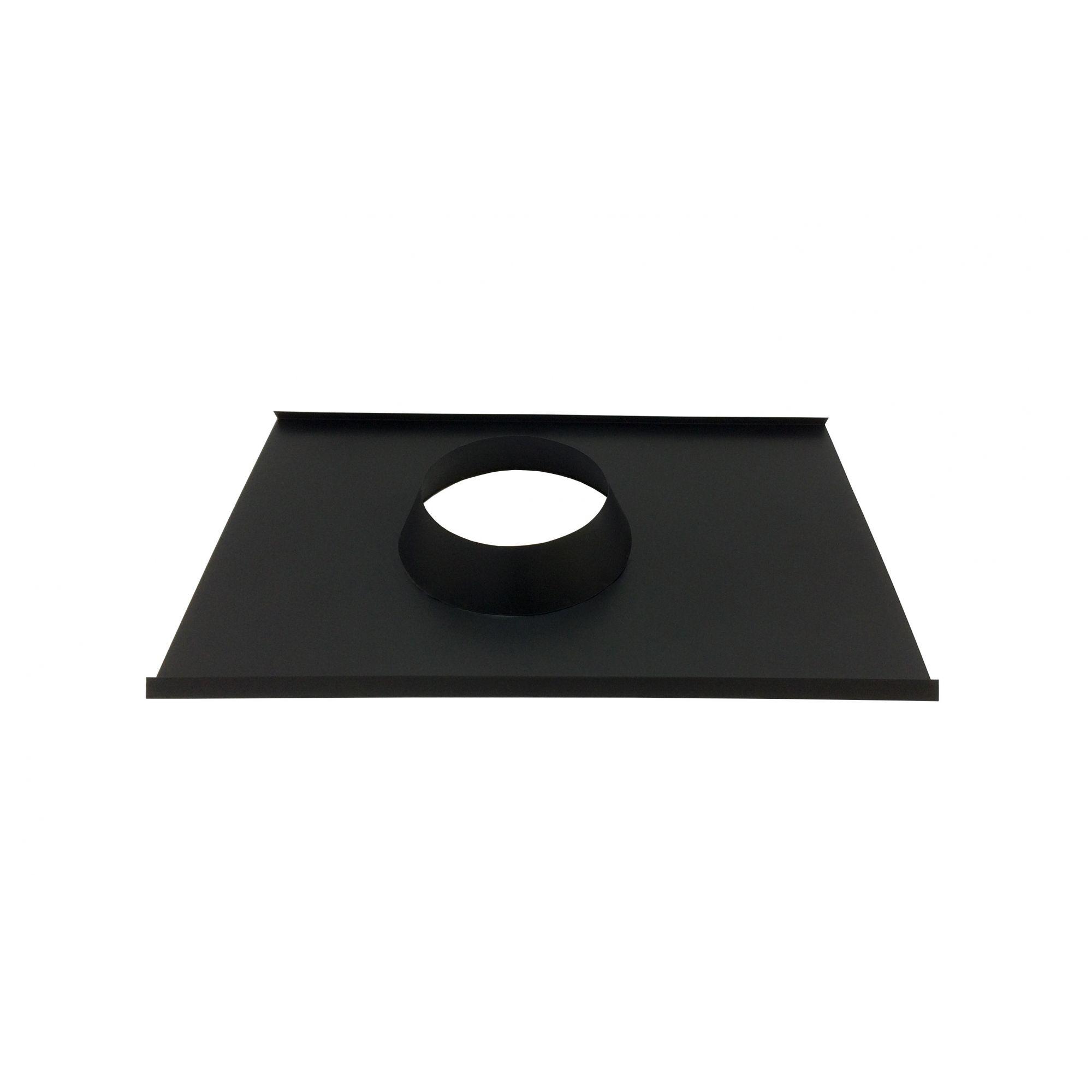Rufo colarinho de telhado preto para chaminé de 115 mm de diâmetro  - Galvocalhas