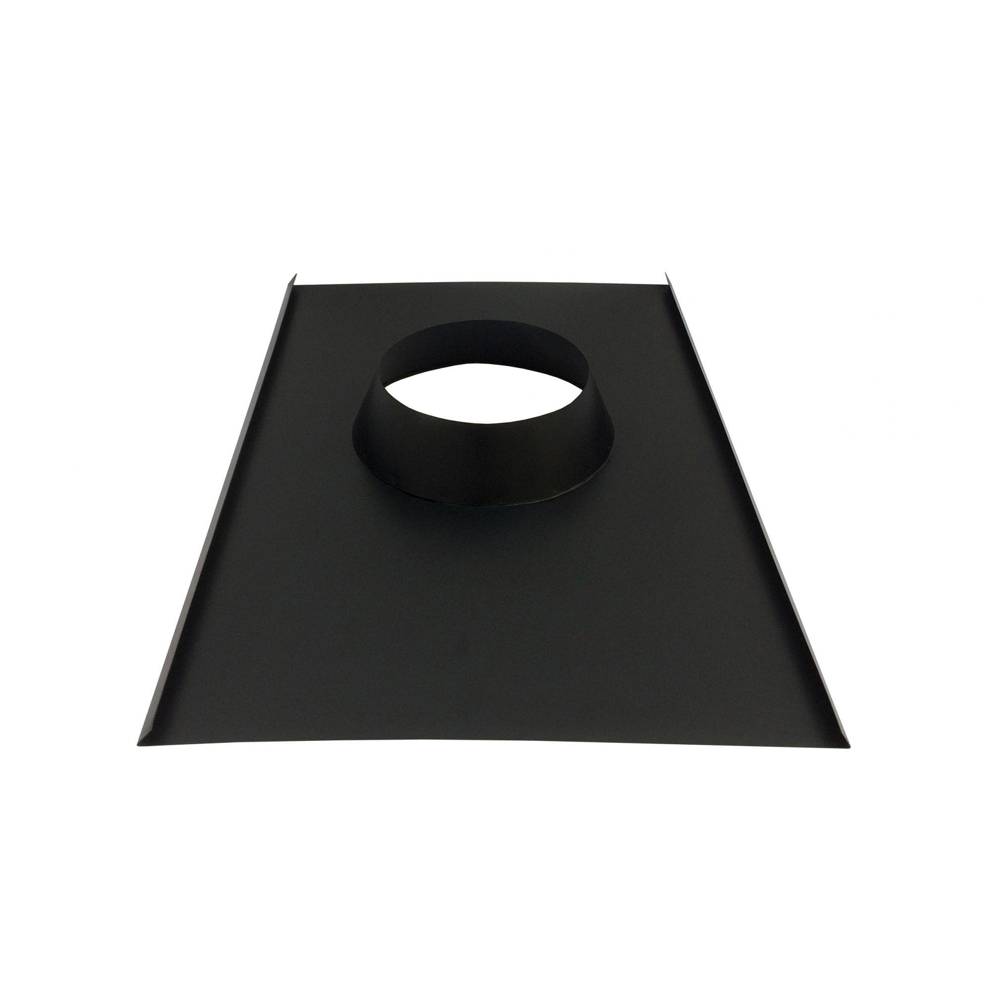 Rufo colarinho de telhado preto para chaminé de 180 mm de diâmetro  - Galvocalhas