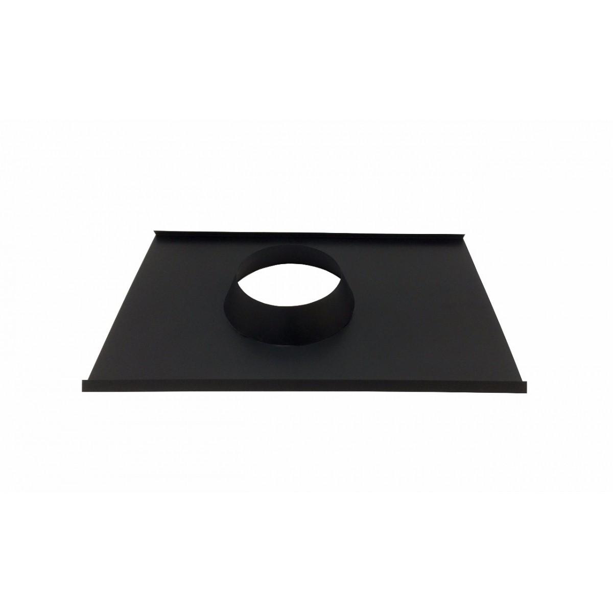 Rufo colarinho de telhado preto para chaminé de 230 mm de diâmetro  - Galvocalhas