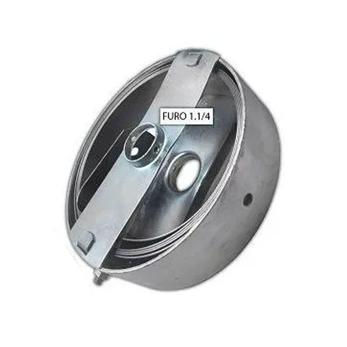 01 Mola Porta De Aço Enrolar 4.0 Metros Furo 1.1/4