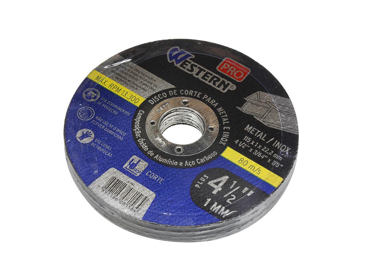 100 Pçs Disco De Corte Fino Inox Esmerilhadeira 4.1/2 X 1,0