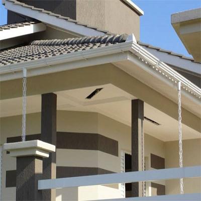 12 Metros Kit Calha Beiral Casa Branco 52pc + 6m Corrente