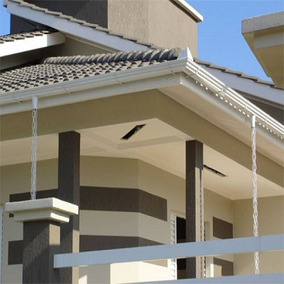 12 Metros Kit Calha Para Beiral Casa Galvanizado Branco 52pc