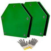 2 Esquadro Magnético Para Solda 25kg Soldador Serralheiro