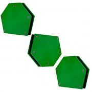 3 Esquadro Magnético Para Solda Ima Forte 12kg Até 135° Axt