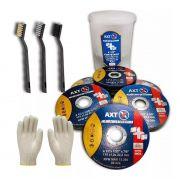 50 Discos Corte Fino 4.1/2  Aço Inox Ferro Axt Lixadeira