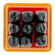 Algarismo Numeros Para Gravação 3mm 9 Peças Starfer