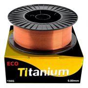 Arame Carretel Inversora Solda Mig 0.8mm Rolo 15kg Titanium
