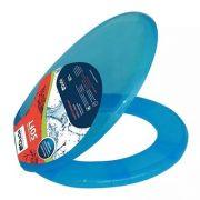Assento Sanitário Soft Citrus Oval Duda Universal azul