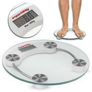 Balança Digital WBDB-001 Banheiro Vidro Temperado -180kg Import Way