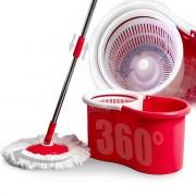 Balde Mop Giratório 360° Esfregão Com Trava Balde 6 Litros