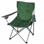 Cadeira Dobrável Alvorada Camping Pesca Verde + Bolsa