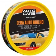 Cera Brilho 200g Automotiva, Limpa E Da Brilho Intenso